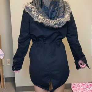 Forever 21 winter jacket with faux fur